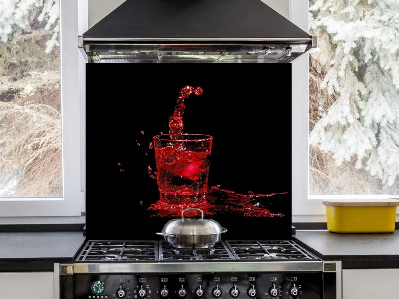 Splashing Of Red Wine